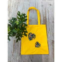 Tote bag amarilla monstera